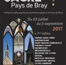 Découverte des églises des villages du pays de bray et animations gratuites du 23 juillet au 3 septembre 2017.