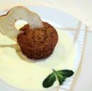 Muffin de carottes de créances et sa crème anglaise au miel