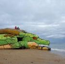 Un blockhaus transformé en dragon dans le Val de Saire à Réville