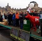 Actions syndicales de la FNSEA à Paris et en province.