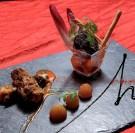 Douceur pomme boudin noir de Mortagne et croustillant au Camembert de Normandie
