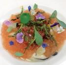 Huîtres de Normandie, gelée de pamplemousse et tartare tomates à l'estragon