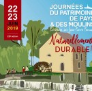 Journées du Patrimoine de Pays et des Moulins : inscriptions 2019 ouvertes