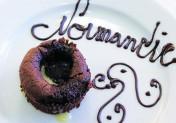 Moelleux chocolat au caramel 4 épices, coeur coulant chocolat blanc