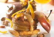 Pomme rôtie à la confiture de lait, gourmandise de pain d'épices