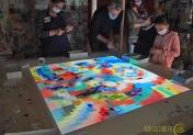 Des havrais ont pixelisé une œuvre de Sonia Delaunay