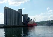 Silos à grains sur le port de Rouen - exportation de céréales